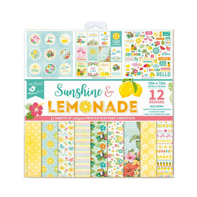 Paper Pack 12in x 12in Sunshine And Lemonade- 12sheets, 230gsm