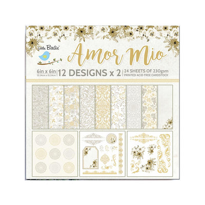 Paper Pack 6in x 6in Amar Mio- 24sheets
