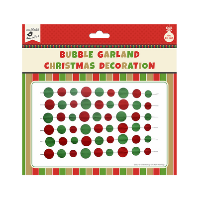 Christmas Bubble Garland Decoration 6pc (1m Each)