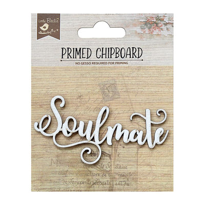 Primed Chipboard-  Soulmate, 1Pc