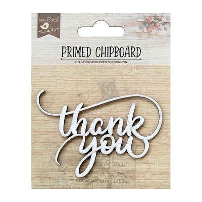 Primed Chipboard-  Thank You, 1Pc