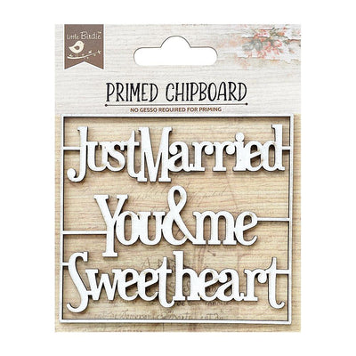 Primed Chipboard-  Sweethearts, 1Pc