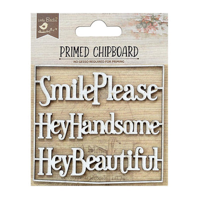 Primed Chipboard-  Smile Please, 1Pc