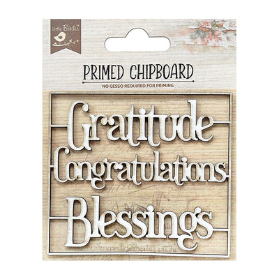 Primed Chipboard-Wishes For You, 3Pc