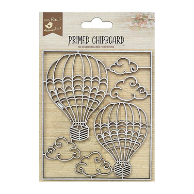Primed Chipboard-  Up And Away, 1Pc