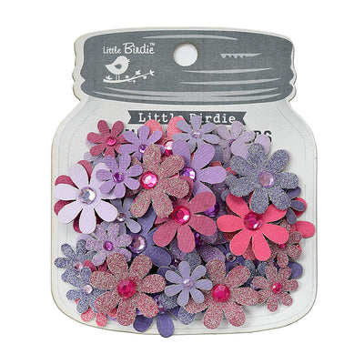Sparkle Florettes Birds And Berries- 60pc