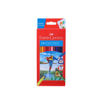 Faber Castel- 24 Triangular  Colour Pencils (CMG)