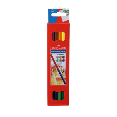Faber Castel- 6 Bi Colour Pencils