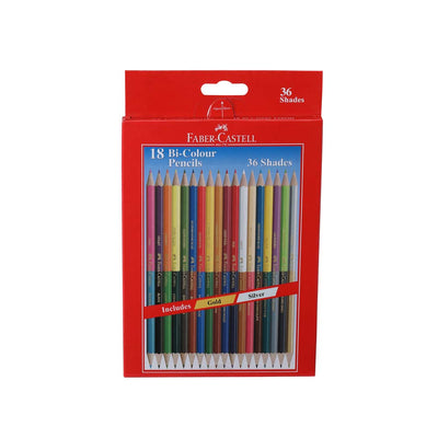 Faber Castell- 18 Bi-Colour Pencils
