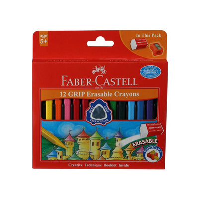 Faber Castel- 12 Grip Erasable Crayons