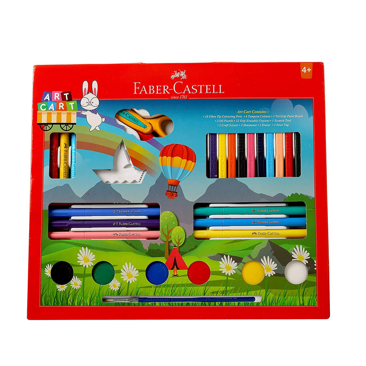 Faber Castell- Art Cart Kit With Free Paint Brush