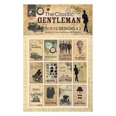 Journaling Card 4in x 6in The Classic Gentleman- 24 sheets, 12 design, 250gsm