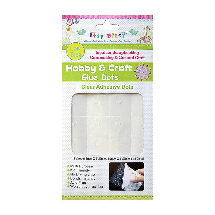 Hobby and Craft Glue Dots - Low Tack(48 Dots)