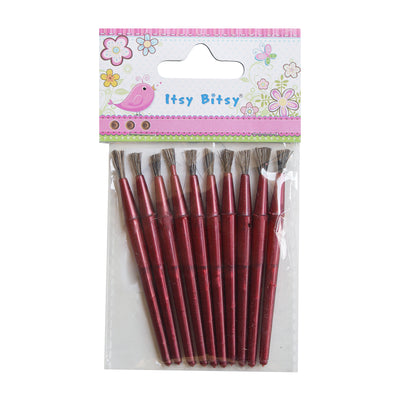 Paint Brushes Set - Red,10pcs