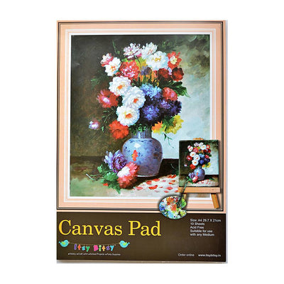 Canvas Pad - A4size, 29.7x21cm, 10 Sheets