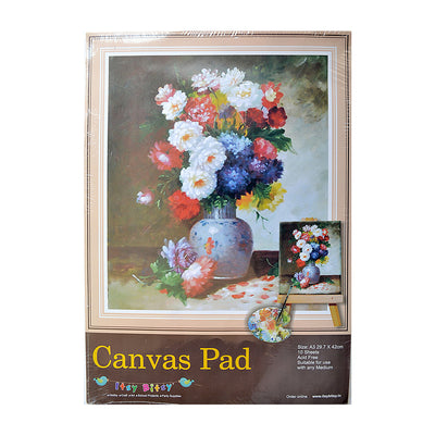 Canvas Pad A3size,29.7x42cm - 10 Sheets