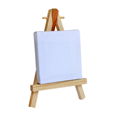 Mini Display Easel With Canvas -135x70x22mm, 1pc