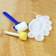 Sponge Roller, Dauber and Palette Set - 3pcs