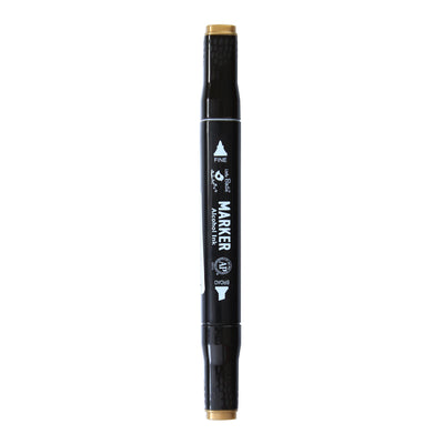Dual Tip Alcohol Marker - Gold, 1pc