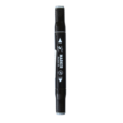 Dual Tip Alcohol Marker - Silver, 1pc