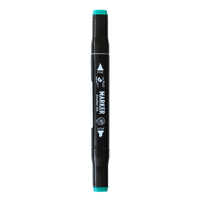 Dual Tip Alcohol Marker - Turquoise Green, 1pc