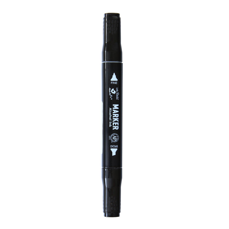 Dual Tip Alcohol Marker - Black, 1pc