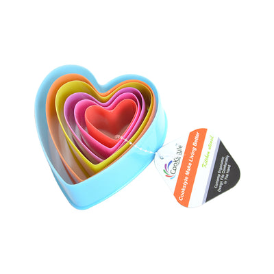 Cookie Cutter- Heart Assorted Sizes  6pcs