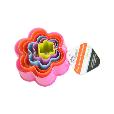 Cookie Cutter - Flower Assorted Sizes  6pcs