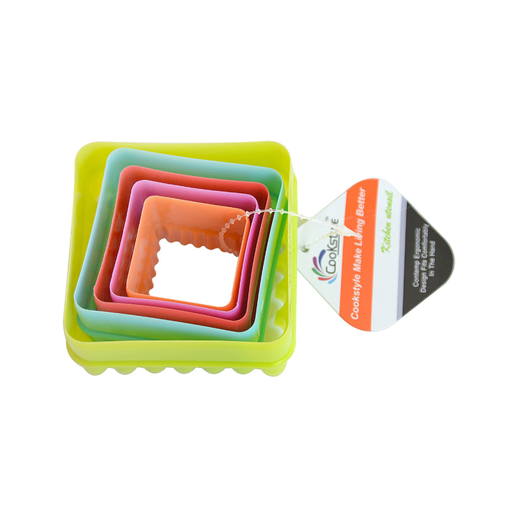 Cookie Cutter - Square Assorted Sizes 5pcs