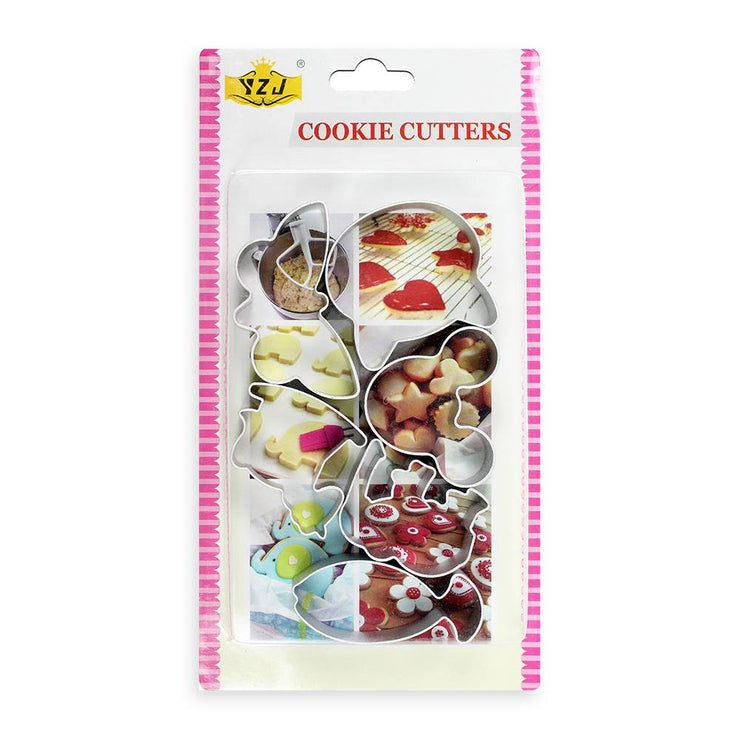 Cookie Cutters - Assorted, Design 6pc