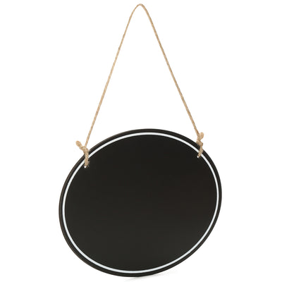 Wooden Hanging Chalkboard - Oval, 20X15X0.4cm, 1 pc