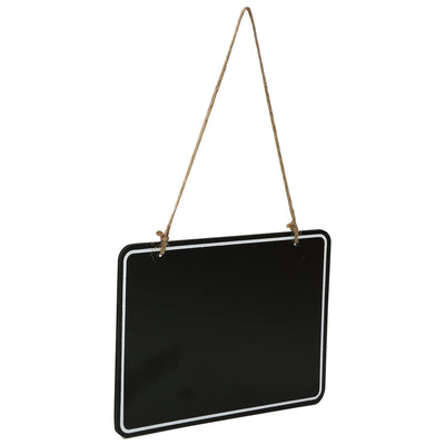 Wooden Hanging Chalkboard - Rectangle, 20X15X0.4cm, 1 pc