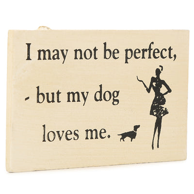 Fridge Magnet - My Dog Loves Me, 9X5X0.5cm, 1pc