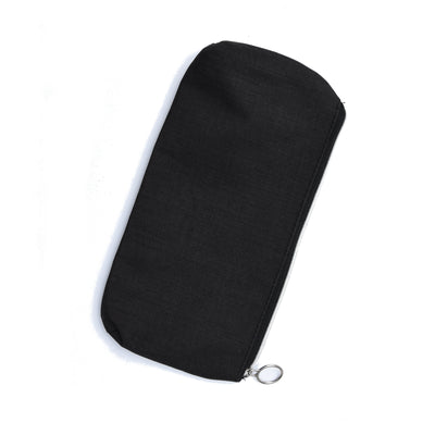 Zipper Pouch - Black, 1Pc