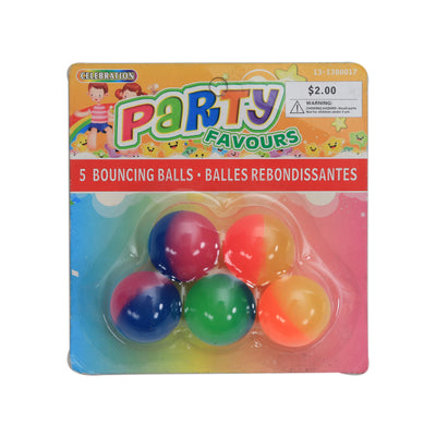 Bouncing Balls, 3.2 cm - Multicolours, 5pc