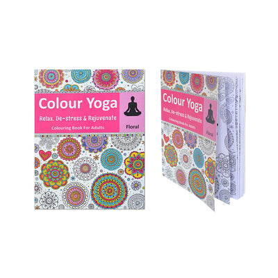 Colouring Book For Adults - Floral, 1pc