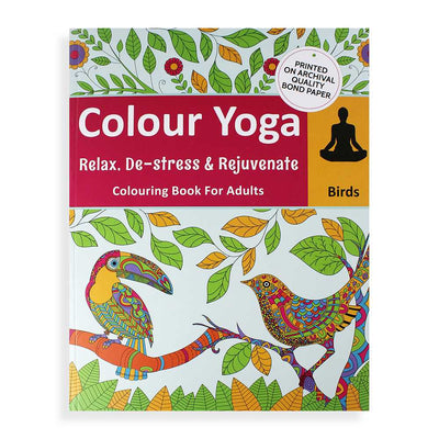 Colouring Book For Adults - Birds
