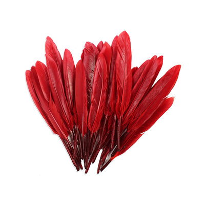 Red Indian Feathers - Red 30pcs, 13 cm
