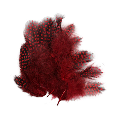 Boho Feathers 15pcs - Red