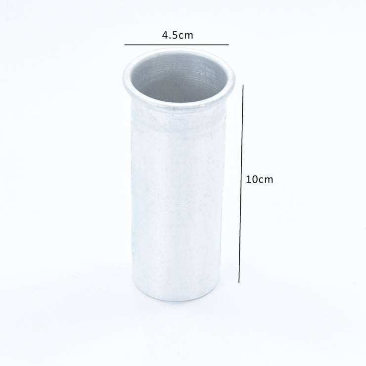 Aluminium Pillar Candle Mould 4.5 x 10 cm 1Pc