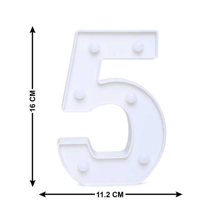 Led Marquee Number 5 - 1pc