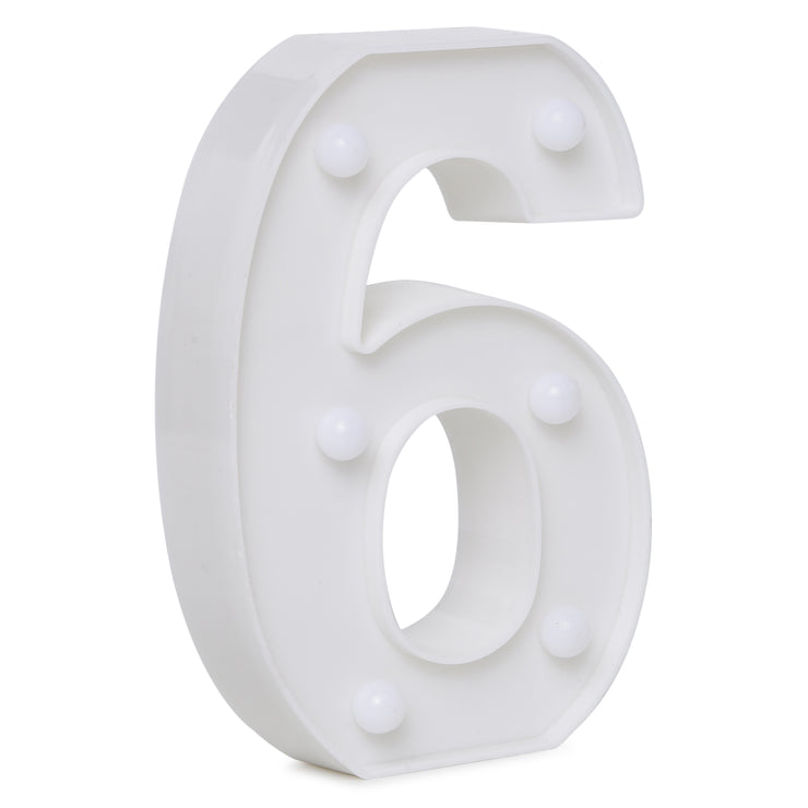 Led Marquee Number 6 - 1pc