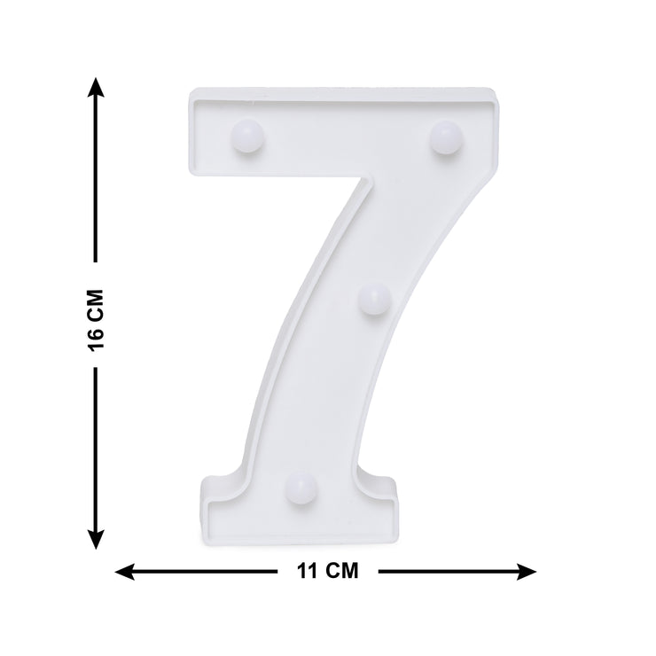 Led Marquee Number 7 - 1pc