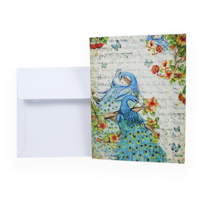 Little Birdie Card & Envelope 4 x 6inch- Peacock Glamour, 1pc