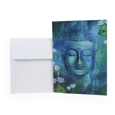 Little Birdie Card & Envelope 4 x 6inch- Buddha, 1pc