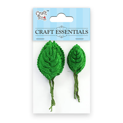 Fabric Leaves 20 pcs- Green