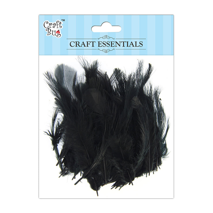 Feathers 90pcs - Black