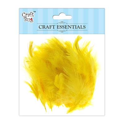 Feathers 90pcs - Light Yellow