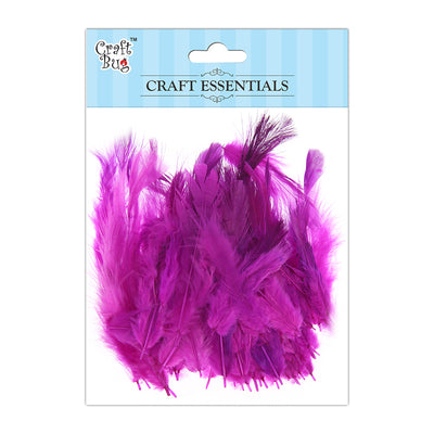 Feathers 90pcs - Dark Pink