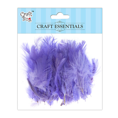 Feathers 90pcs - Light Purple